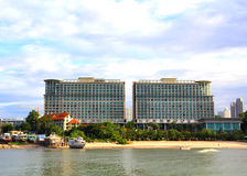Hotel. Building in tropical environment. Pattaya, Thailand royalty free stock image