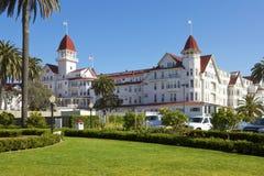 hotel台尔科罗纳多在圣地亚哥,加利福尼亚,美国 免版税库存照片