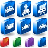 Hotel 3D Button Set 2. Set of 6 3D Hotel Service Buttons Royalty Free Stock Photography