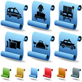 Hotel 3D Scroll Button Set 2 Royalty Free Stock Images