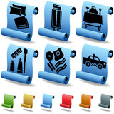 Hotel 3D Scroll Button Set Stock Images