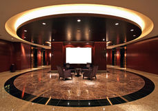 Hotel. Luxurious hotel lobby with marble floor Stock Photography