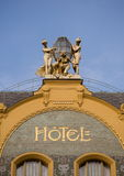 The hotel. Prague hotel in art nouveau style Stock Photography