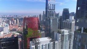 Hotel aéreo de Oasia do dia dos arranha-céus de Singapura filme