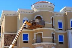 Hotel in aanbouw Royalty-vrije Stock Afbeeldingen
