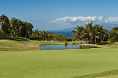 Hotel Abama, Tenerife di terreno da golf Immagine Stock Libera da Diritti