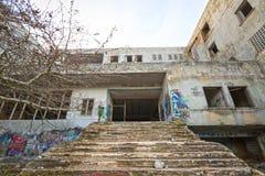 Hotel abandonado Foto de Stock Royalty Free