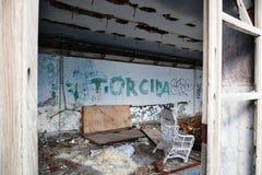 Hotel abandonado em Gradac Imagem de Stock Royalty Free