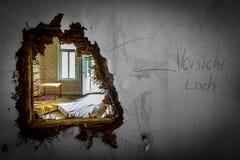 Hotel abandonado en el Harz Foto de archivo libre de regalías