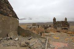Hotel abandonado que foi supostamente um esconderijo do nazi, Argentina de Sosneado Hot Springs fotografia de stock