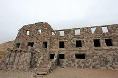 Hotel abandonado que foi supostamente um esconderijo do nazi, Argentina de Sosneado Hot Springs imagem de stock