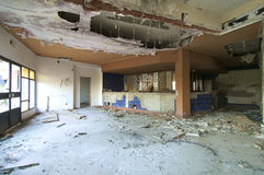 Hotel abandoned. Image of the restaurant of a hotel abandoned Royalty Free Stock Photo