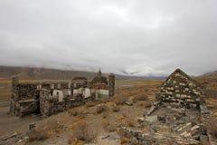 Hotel abbandonato che presunto è stato un nascondiglio del nazi, Argentina delle sorgenti di acqua calda di Sosneado Fotografia Stock Libera da Diritti