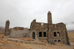 Hotel abbandonato che presunto è stato un nascondiglio del nazi, Argentina delle sorgenti di acqua calda di Sosneado Immagine Stock Libera da Diritti