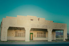 Hotel abbandonato nel parco nazionale di Death Valley, California Fotografie Stock