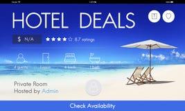 Hotel-Abkommen-Unterkunfts-Häuschen-Motel-Gasthaus-Konzept stockfotografie