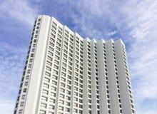 Hotel accommodation row the suburbs. Royalty Free Stock Photo