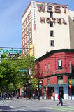 Hotel ad ovest a Vancouver Chinatown fotografia stock libera da diritti