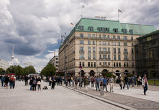 Hotel Adlon in Berlijn Royalty-vrije Stock Foto