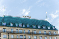 Hotel Adlon in Berlin. It is part of the Kempinski group and the. BERLIN, GERMANY - OCT 28, 2014: Hotel Adlon in Berlin. It is part of the Kempinski group and Royalty Free Stock Images