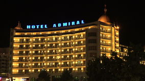 Hotel Admiral. The Golden Sands resort. Varna. Bulgaria. Hotel Admiral. The Golden Sands resort. Varna Bulgaria stock video