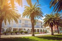 Hotel at Adriatic coast Stock Photos