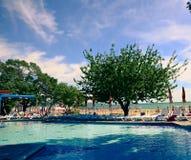 Hotel Albena Beach Bulgaria Sea dello stagno Fotografie Stock Libere da Diritti