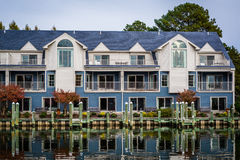 Hotel along the Miles River, in St. Michaels, Maryland. royalty free stock photography