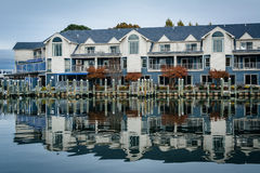 Hotel along the Miles River, in St. Michaels, Maryland. royalty free stock images