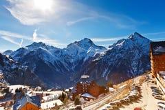 Hotel in alpi francesi Immagini Stock