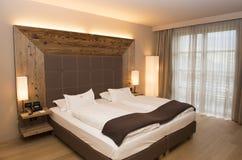 Hotel Alpina Dolomiti, Seiser Alm, Italia Fotografia Stock