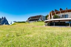 Hotel Alpina Dolomiti, Tirolo del sud, Italia del Nord Fotografia Stock