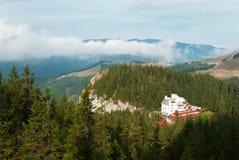 Hotel alpino Fotografie Stock