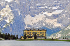 Hotel in Alps Royalty Free Stock Photo