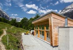 Hotel in the Alps, Switzerland. Summer 2013 Stock Photo