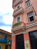 Hotel Ambos Mundos in Old Town Havana Cuba Royalty Free Stock Photo