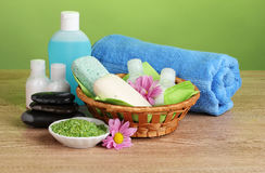 Hotel amenities kit Stock Images