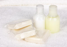 Hotel amenities kit Royalty Free Stock Photography