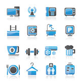 Hotel Amenities Services Icons Royalty Free Stock Image