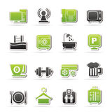 Hotel Amenities Services Icons Royalty Free Stock Photo
