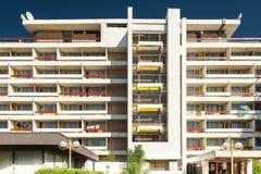 Hotel Amfiteatru en el centro vacacional de Olimp Imágenes de archivo libres de regalías