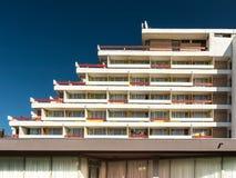 Hotel Amfiteatru in Olimp-Vakantietoevlucht Stock Foto's