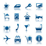 Hotel & jogo do ícone das férias Fotos de Stock Royalty Free