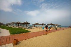 Hotel & stazione balneare della fortificazione di Hamra di Al Immagini Stock Libere da Diritti