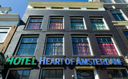Hotel in amsterdam Stock Photography