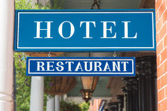 Free Hotel And Restaurant Sign Royalty Free Stock Image - 45028166