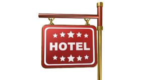 Hotel, Animation stock video