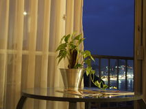 Hotel-Ansicht Stockfotografie