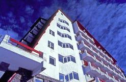Hotel-Ansicht Stockfoto