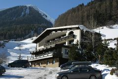 Hotel Antony de Ischgl Áustria imagem de stock royalty free